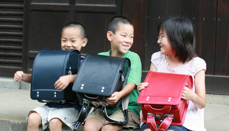 Cặp xách học sinh Nhật bản, Ba lô chống gù lưng Nhật bản khóa tự động [