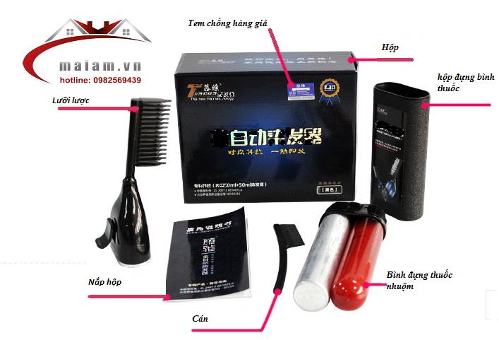 Lược nhuộm tóc thông minh Tengya http://maiam.vn